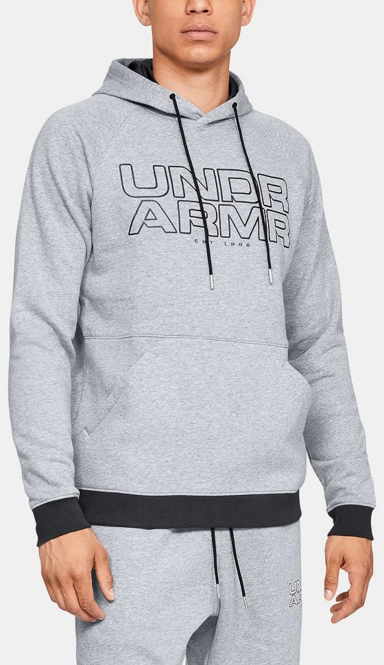 Толстовка Under Armour Baseline Fleece P/O Hoody Steel Light Heather / Black / Black 1317447-035 в Москве