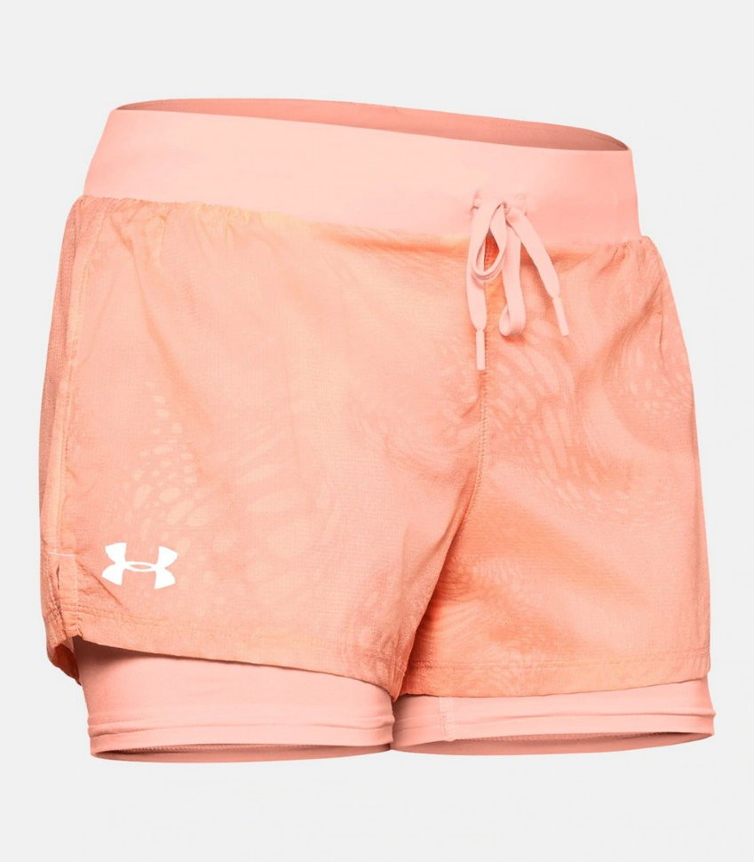 Шорты Under Armour W UA Run SpeedPocket 2-in-1 Weightless Short 1350192-845 в Москве