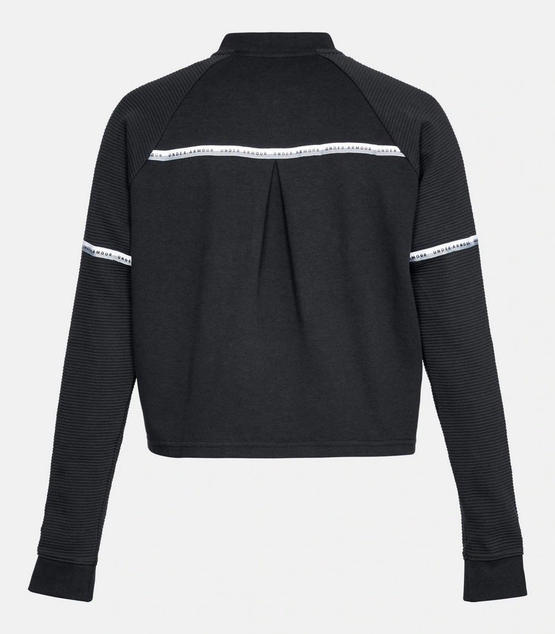 Джемпер Under Armour DOUBLE KNIT BOMBER Black / Black / White 1328227-001 в Москве