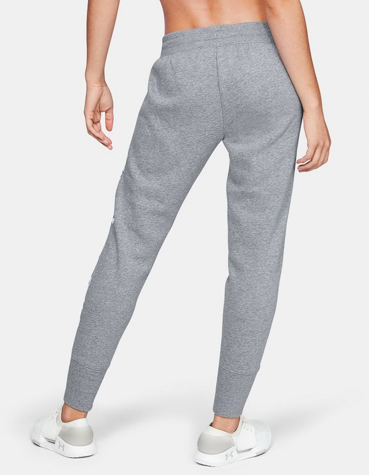 Брюки Under Armour Cotton Fleece WM Pant Steel Light Heather / White / White 1321190-035 в Москве